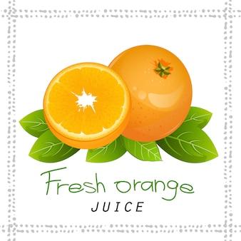 Oranje segment fruit pictogram