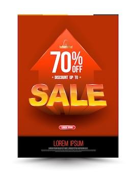 Oranje sjabloon super verkoop poster
