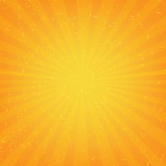 Oranje sunburst