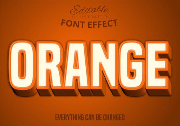Oranje tekst, bewerkbaar teksteffect