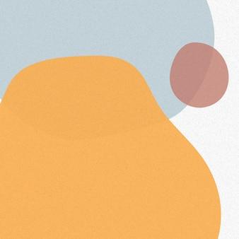 Oranje toon eenvoudige memphis achtergrond