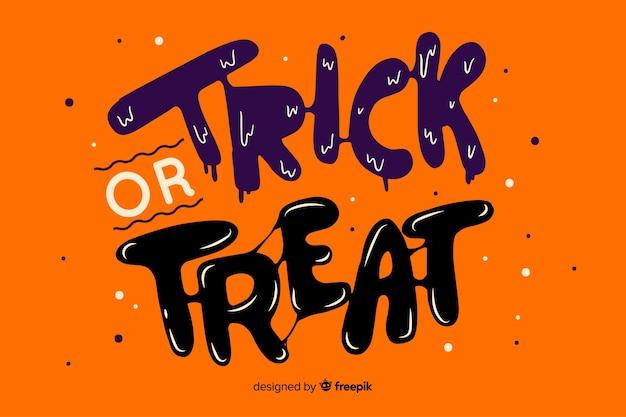 Oranje trick or treat-belettering