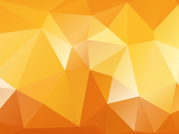 Oranje veelhoek achtergrond