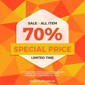 Oranje veelhoekig verkoopontwerp