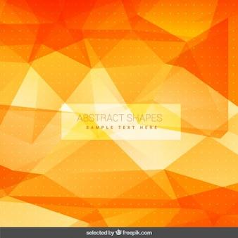 Oranje veelhoekige achtergrond