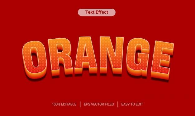 Oranje verloop boog 3d-tekst stijl effect