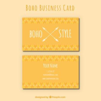 Oranje visitekaartje in de boho-stijl