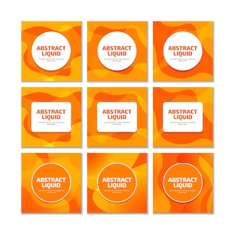 Oranje vloeibare vloeibare moderne trendy achtergrond voor sociale media post.