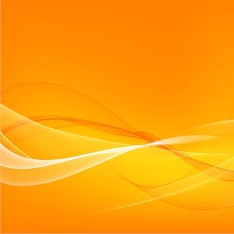 Oranje vloeiende lichte lijnen achtergrond
