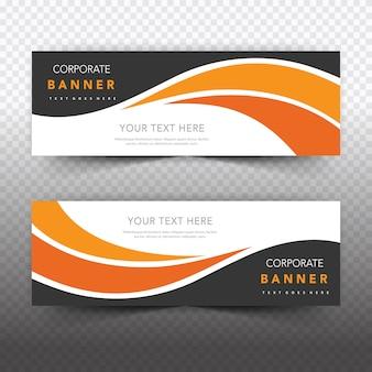 Oranje zakelijke banner