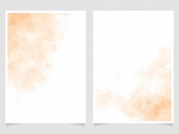 Oranje zandstrand aquarel wassen splash collectie