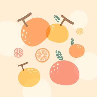 Oranje zomer achtergrond