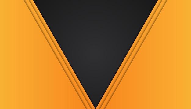 Oranjegeel en zwart abstract metaalkader