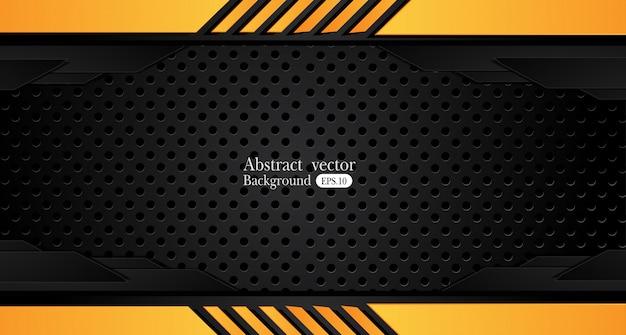 Oranjegele en zwarte abstracte bedrijfsachtergrond vectorontwerp.