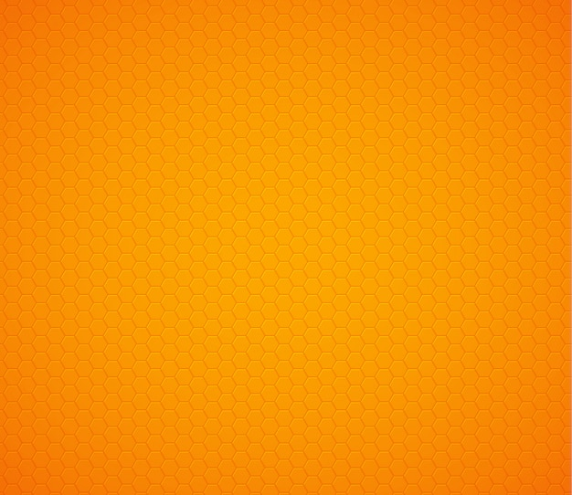 Oranjegele hexagon honingraatachtergrond