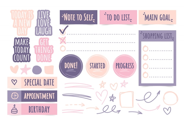 Organisatie stickers collectie