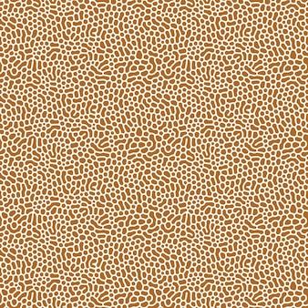 Organisch naadloos patroon met afgeronde vormen. diffusie reactie achtergrond. onregelmatig steeneffectontwerp.