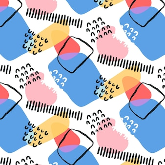 Organisch plat abstract elementpatroon