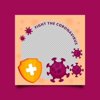 Organisch plat coronavirus facebook-frame