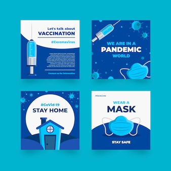 Organisch plat coronavirus instagram postpakket