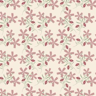 Organisch plat gedrukt bloemenpatroon