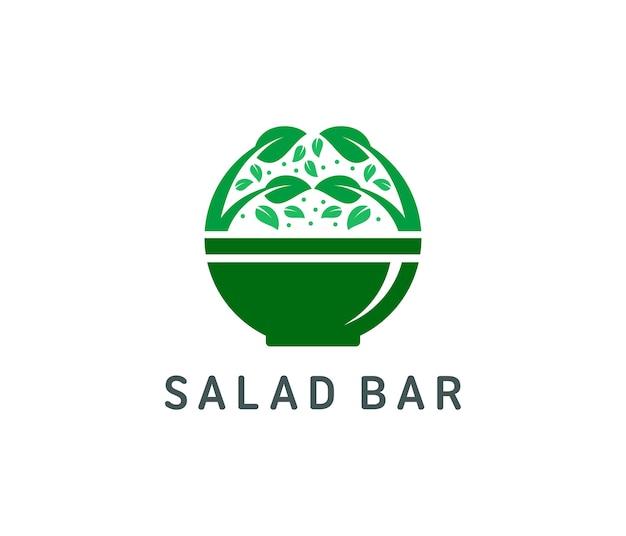 Organisch salade logo ontwerp
