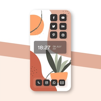Organisch startschermthema voor smartphone