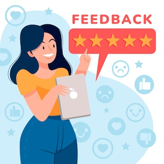 Organisch vlak feedbackconcept