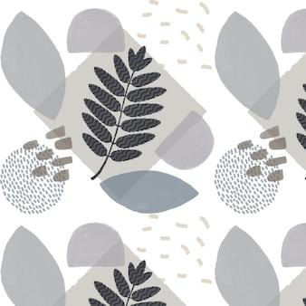 Organisch vlak ontwerppatroon van het abstracte element