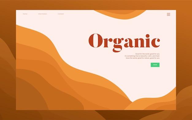 Organische aanplant informatie grafische website