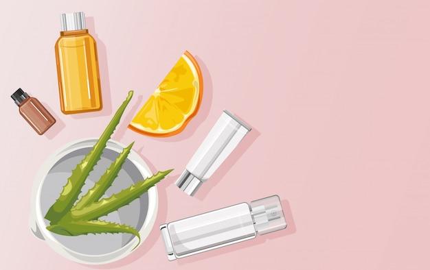 Organische aloë vera-behandeling
