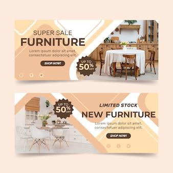 Organische bestemmingspagina voor platte meubelverkoop met foto