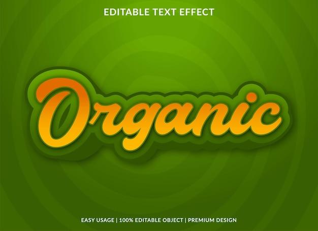 Organische bewerkbare teksteffect premium stijl