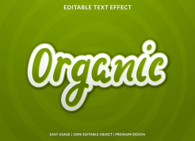 Organische bewerkbare teksteffectsjabloon premium vector