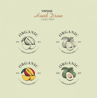 Organische hand getekend vintage logo