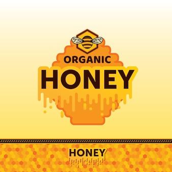 Organische honing sticker