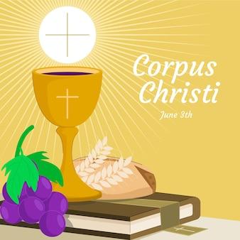 Organische platte corpus christi illustratie
