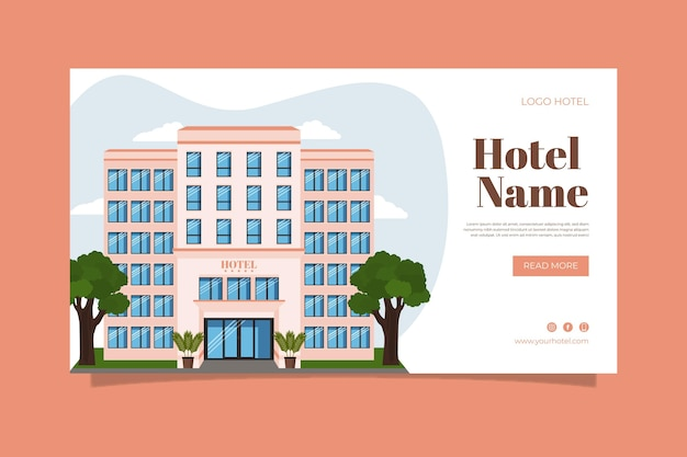 Organische platte hotel sjabloon voor spandoek