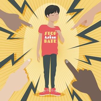 Organische platte stop aziatische haat