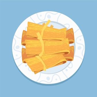 Organische platte tamales
