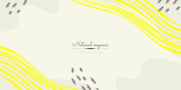 Organische vormenachtergrond met gele lijnen