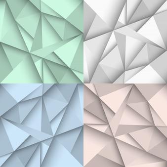 Origami-achtergronden in vier kleuren