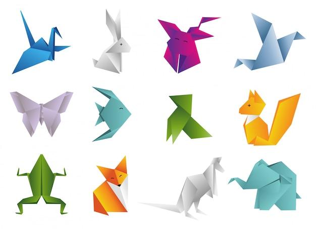 Origami dieren instellen