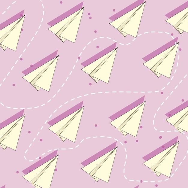Origami en vliegend paperplane-ontwerp