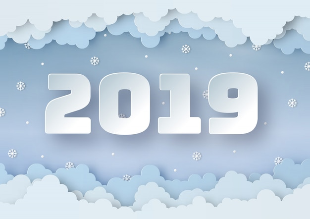 Origami maakte gelukkig nieuwjaar 2019 van de winterweer