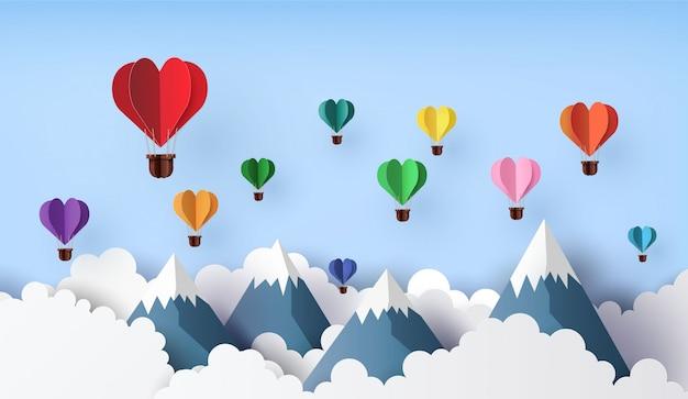 Origami maakte hete luchtballon