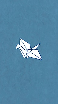 Origami papier kraan mobiel behang