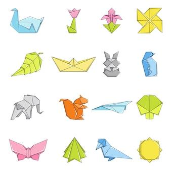 Origami pictogrammen instellen