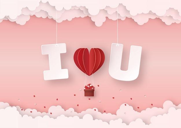 Origami saint valentine's