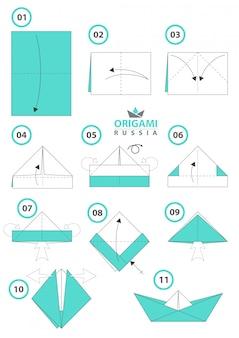 Origami schip